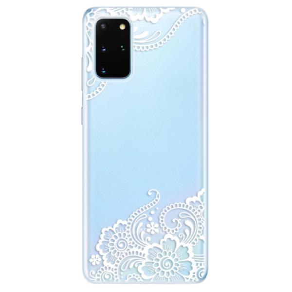 Odolné silikonové pouzdro iSaprio - White Lace 02 - Samsung Galaxy S20+
