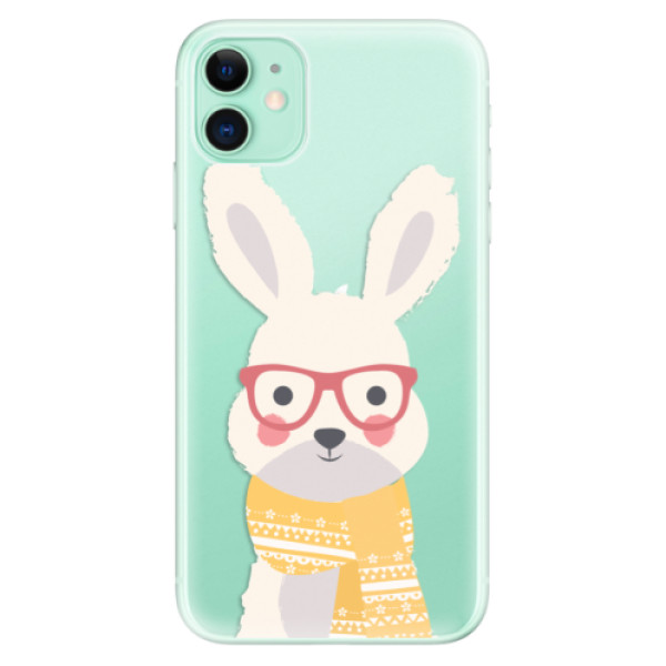 Odolné silikonové pouzdro iSaprio - Smart Rabbit - iPhone 11
