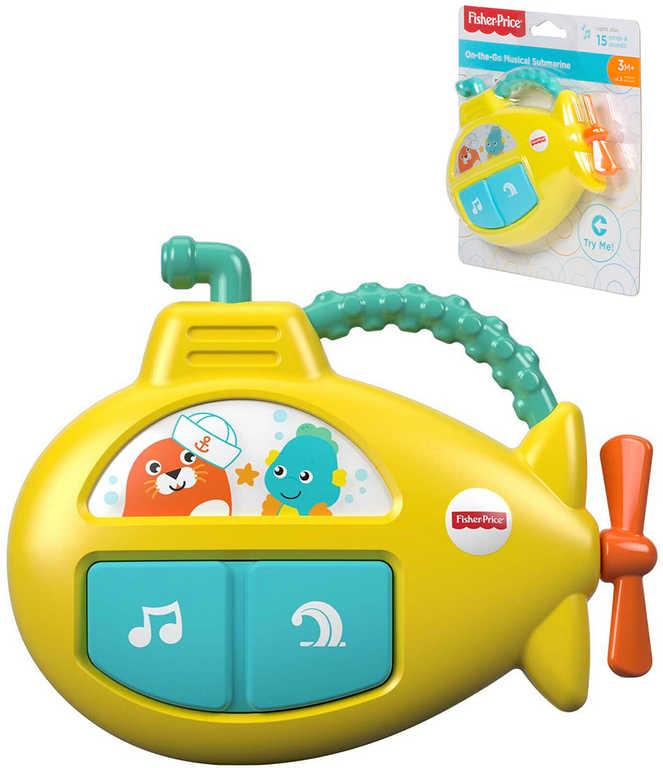 FISHER PRICE Baby hudební ponorka na baterie Světlo Zvuk pro miminko