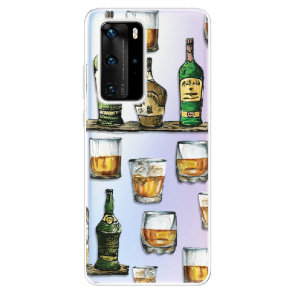Odolné silikonové pouzdro iSaprio - Whisky pattern - Huawei P40 Pro