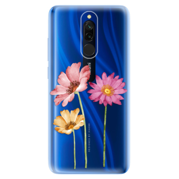 Odolné silikonové pouzdro iSaprio - Three Flowers - Xiaomi Redmi 8
