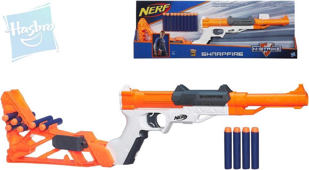 HASBRO Nerf ELITE Sharpfire 6v1 set dětská pistole + 10 nábojů plast