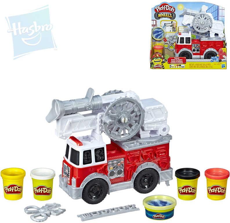 HASBRO PLAY-DOH Wheels hasičský vůz kreativní set s modelínou a doplňkky