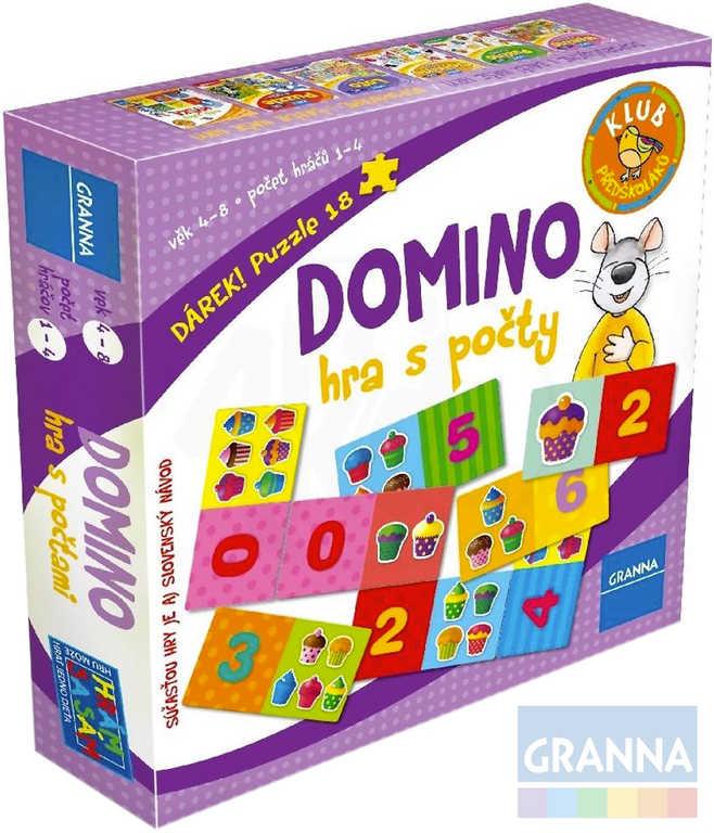 GRANNA Hra Domino s počty