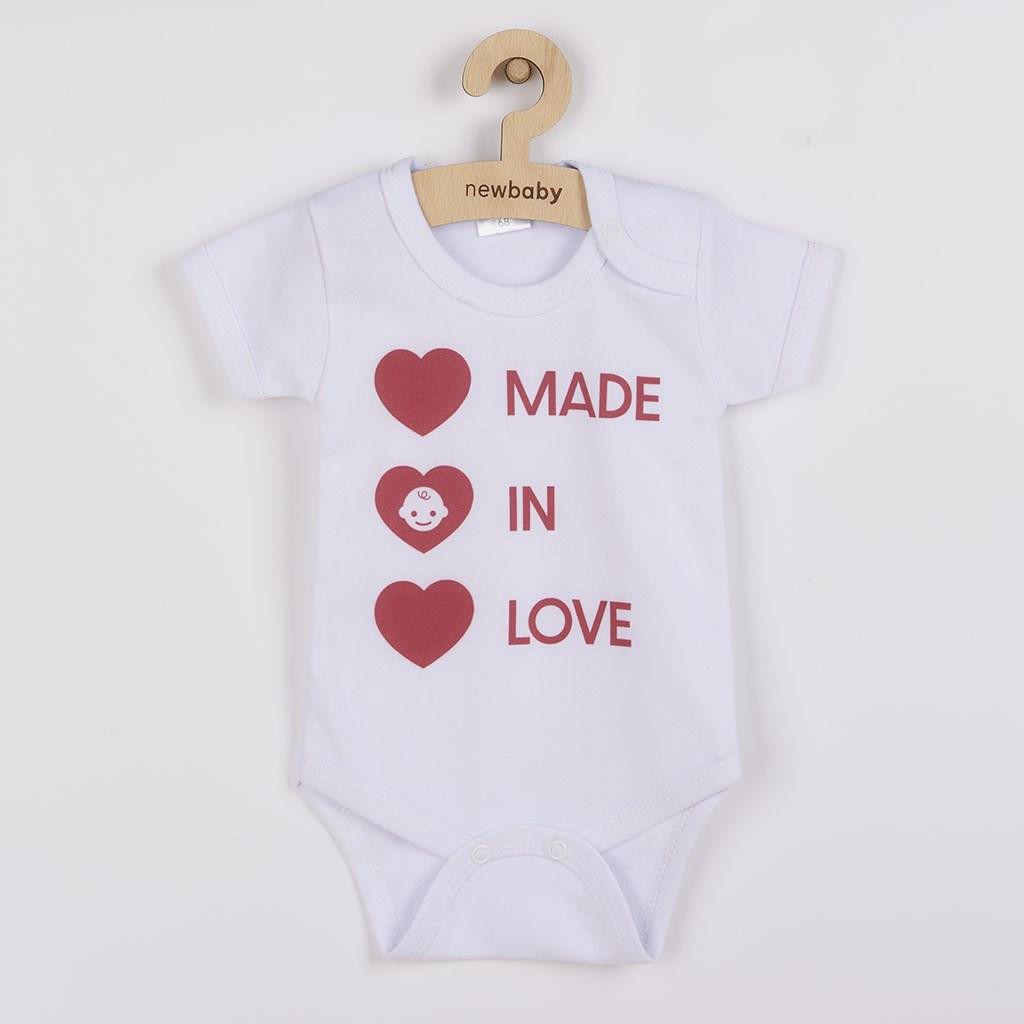 Body s potiskem New Baby MADE IN LOVE - dle