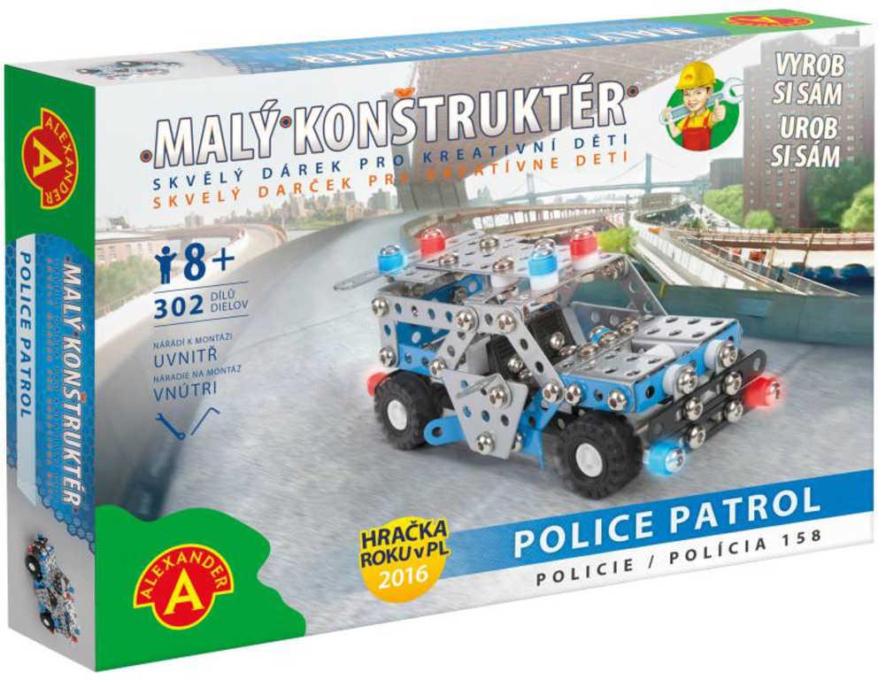 ALEXANDER Malý konstruktér Policie konstrukční STAVEBNICE 302 dílků kov