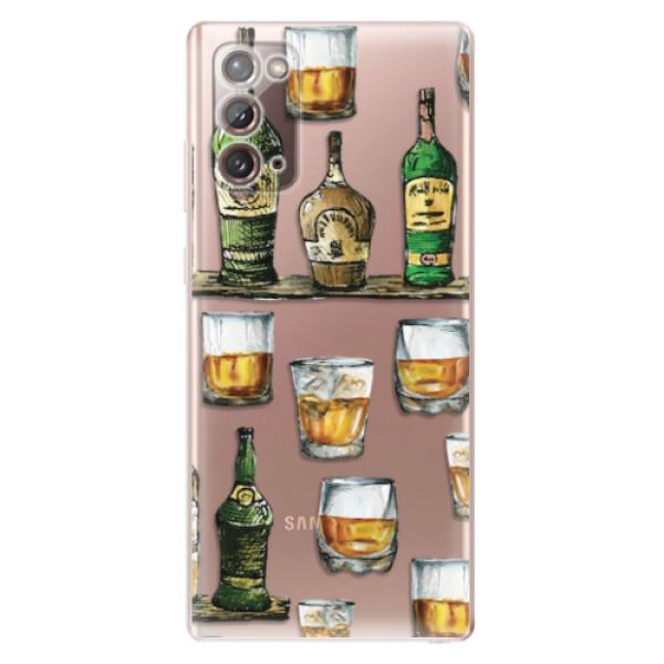 Odolné silikonové pouzdro iSaprio - Whisky pattern - Samsung Galaxy Note 20