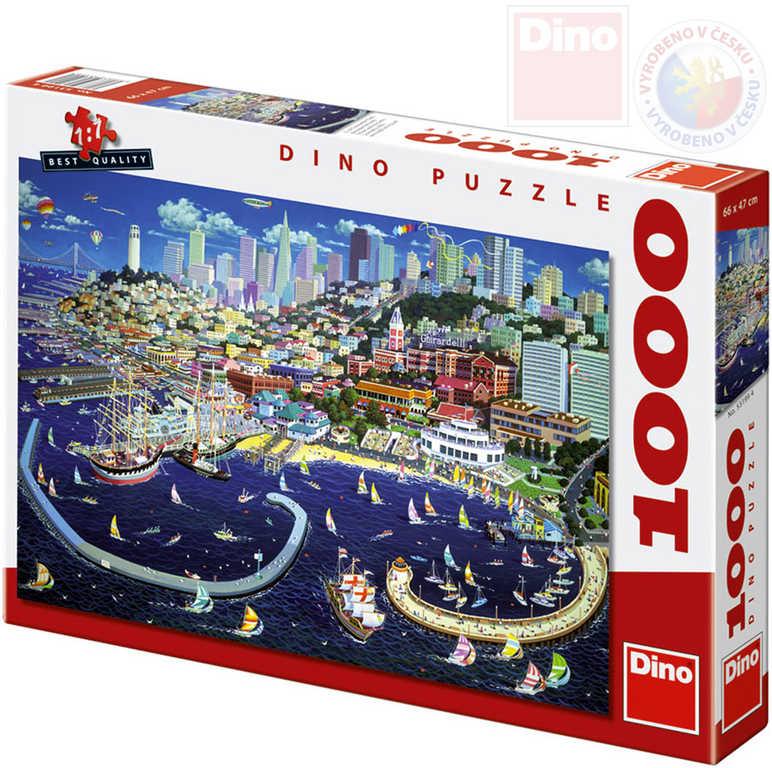 DINO Puzzle 1000 dílků San Francisco 66x47cm skládačka v krabici