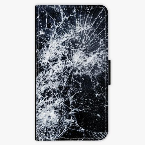 Flipové pouzdro iSaprio - Cracked - Samsung Galaxy J7 2017