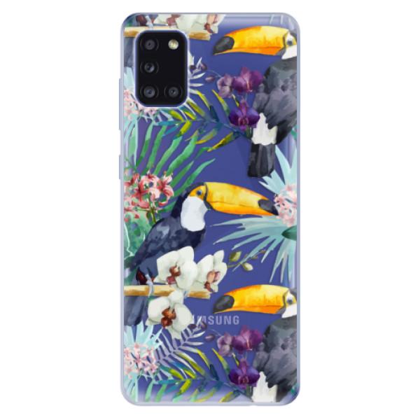 Odolné silikonové pouzdro iSaprio - Tucan Pattern 01 - Samsung Galaxy A31