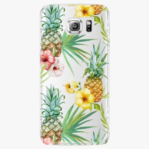 Plastový kryt iSaprio - Pineapple Pattern 02 - Samsung Galaxy S6