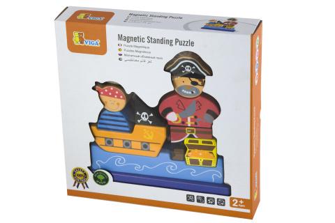 Dřevěné 3D magnetické puzzle - pirát