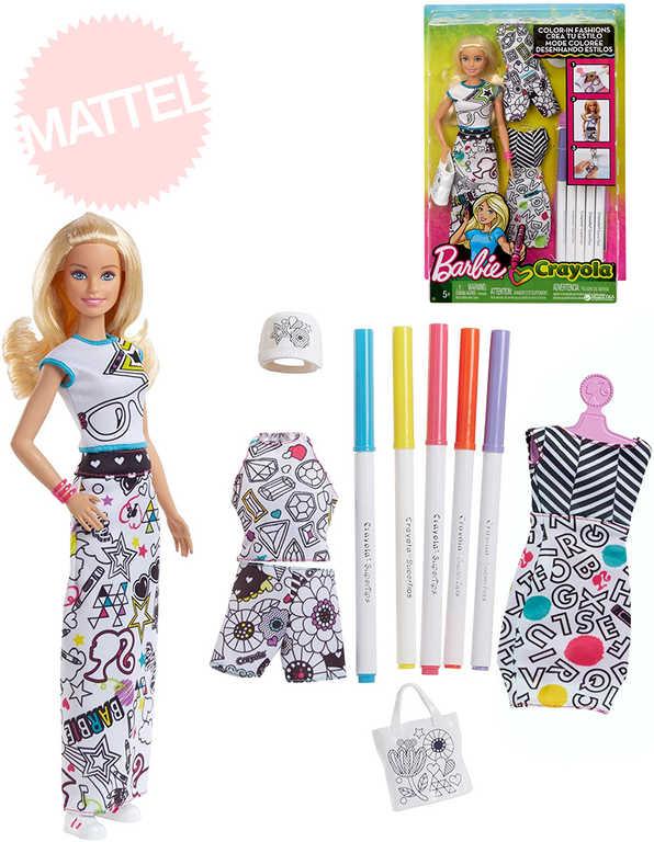 MATTEL BRB Barbie D.I.Y. Crayola vybarvování šatů set s panenkou a doplňky