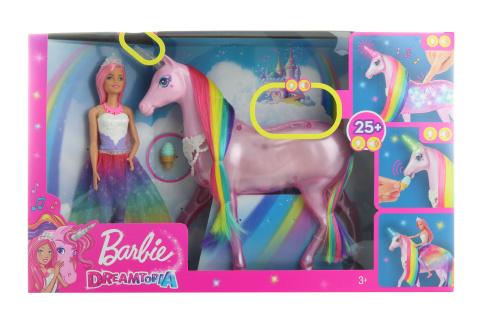 Barbie Kouzelný jednorožec a panenka FXT26