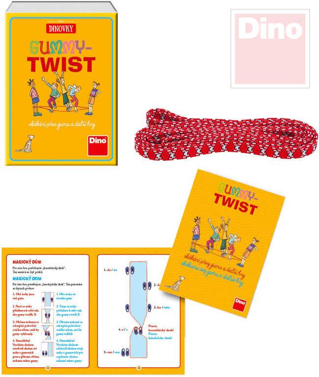 DINO Hra Gummy Twist skákací dětská guma 2,5m *SPOLEČENSKÉ HRY*