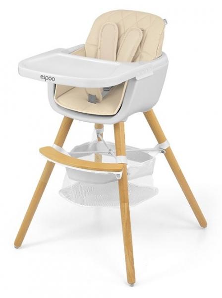 Milly Mally Luxusní jídelní stoleček, křesílko Espoo 2v1, věk: 6 - 36m, béžová