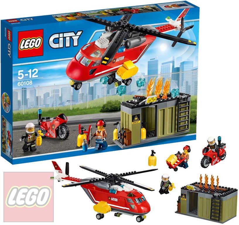 LEGO CITY Hasičská zásahová jednotka 60108 STAVEBNICE