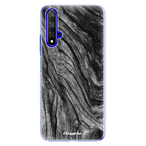 Plastové pouzdro iSaprio - Burned Wood - Huawei Honor 20