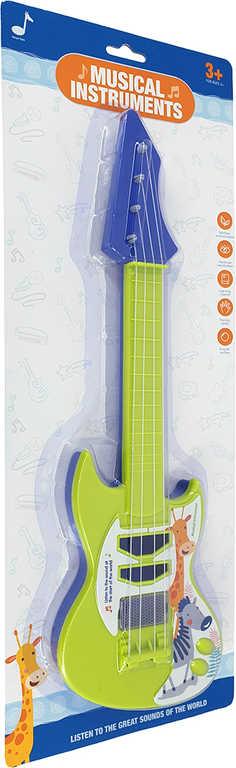 Kytara dětská rocková barevná 42cm plast *HUDEBNÍ NÁSTROJE*