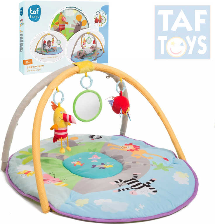 TAF TOYS Baby deka hrací s hrazdou džungle chrastítko pro miminko
