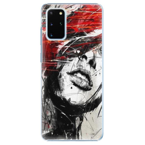 Plastové pouzdro iSaprio - Sketch Face - Samsung Galaxy S20+
