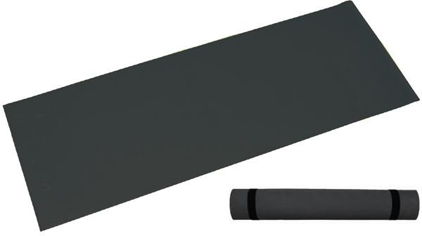ACRA Podložka černá gymnastická pěnová 173x61cm na cvičení fitness