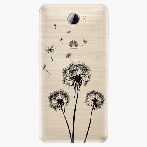 Plastový kryt iSaprio - Three Dandelions - black - Huawei Y5 II / Y6 II Compact