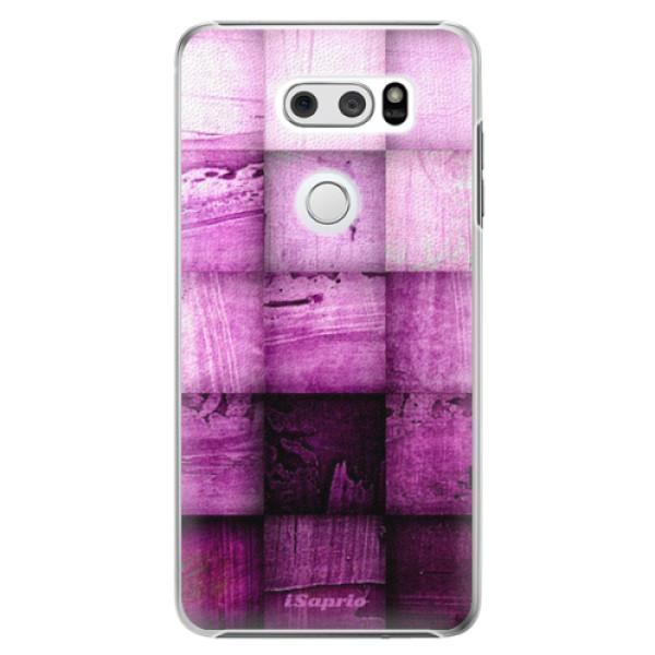 Plastové pouzdro iSaprio - Purple Squares - LG V30
