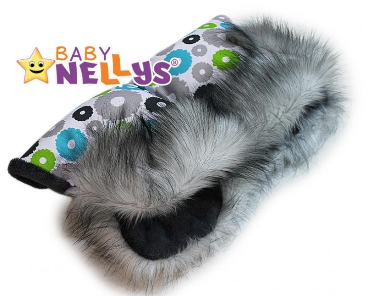 Rukávník ke kočárku s kožešinkou Baby Nellys ®LUX Eskymo - 10