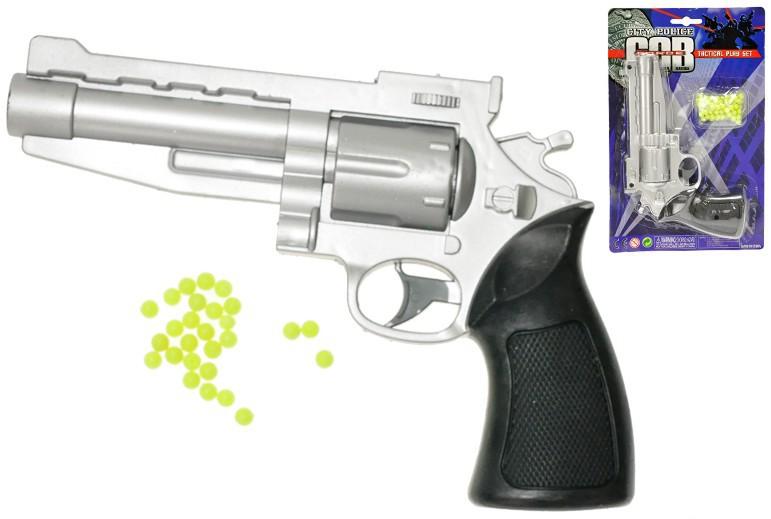 Pistole na kuličky 20 cm KULIČKOVKA set s náboji na kartě