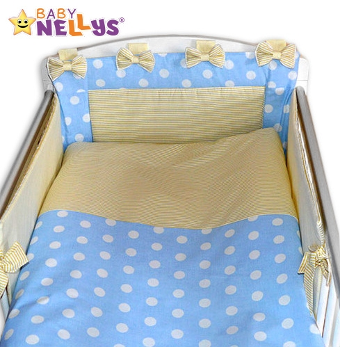baby-nellys-mantinel-s-povlecenim-maslicka-bubble-sv-modre-jemne-bezove-prouzky-120x90