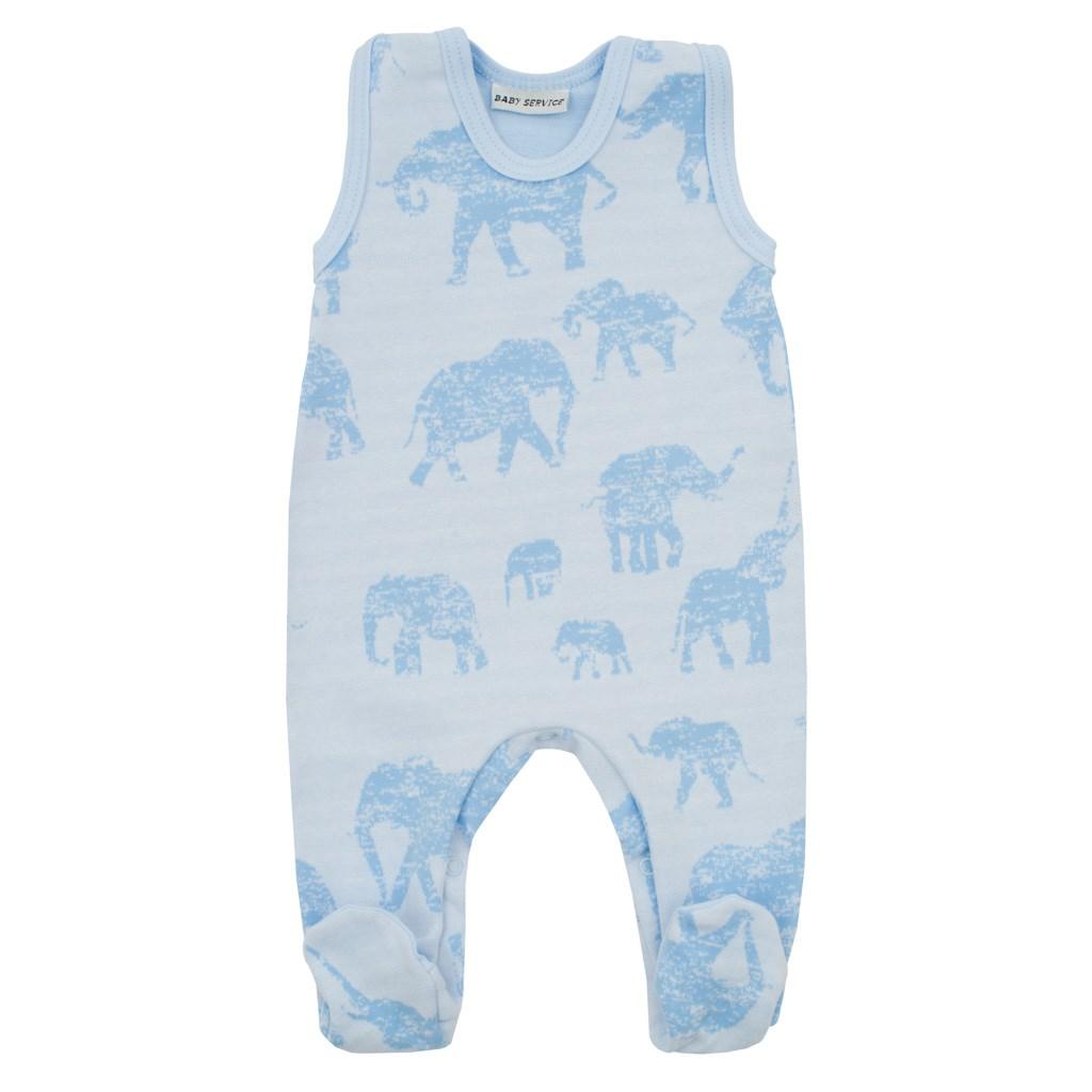 Zimní kojenecké dupačky Baby Service Sloni