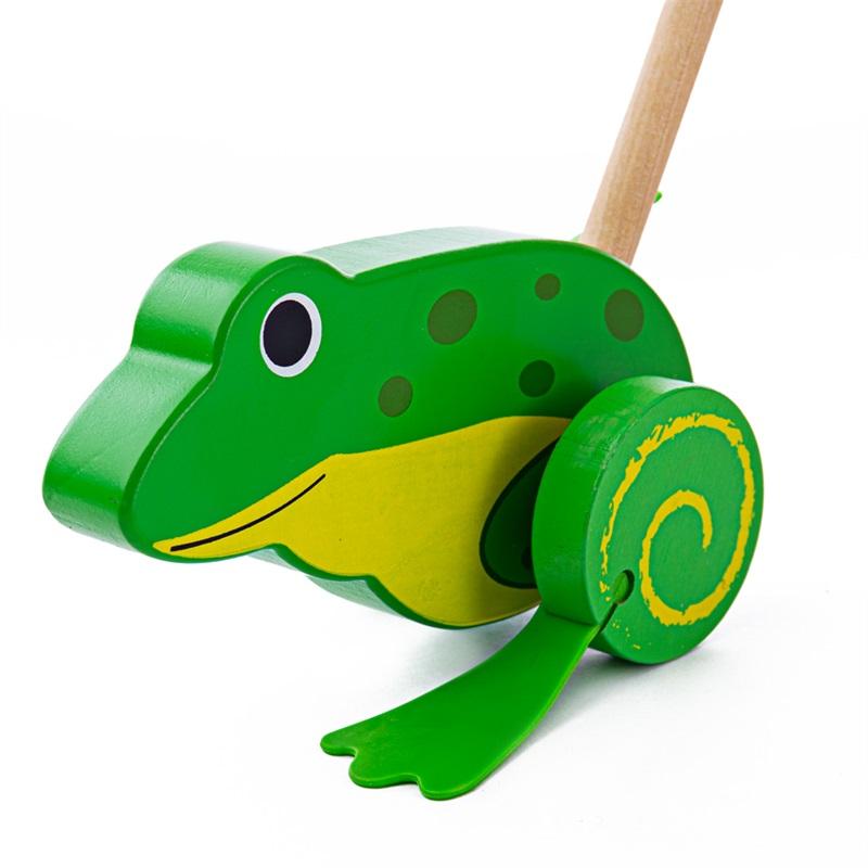 Bigjigs Baby Dřevěný jezdík Žabička
