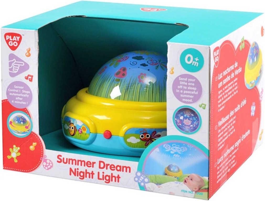 Baby lampička 15cm promítačka na zeď na baterie Světlo Zvuk pro miminko