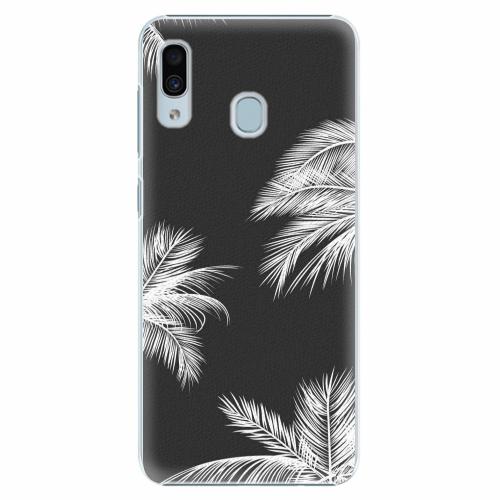 Plastový kryt iSaprio - White Palm - Samsung Galaxy A30