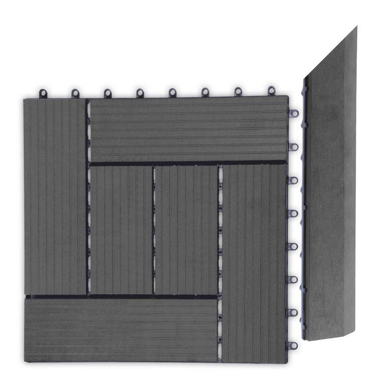 Přechodová lišta G21 pro WPC dlaždice Eben, 38,5x7,5 cm rohová (pravá)