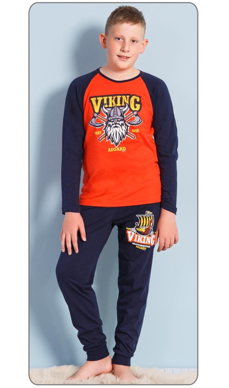 Dětské pyžamo dlouhé Viking - Červená