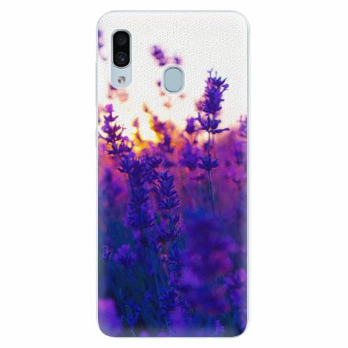 Silikonové pouzdro iSaprio - Lavender Field - Samsung Galaxy A30
