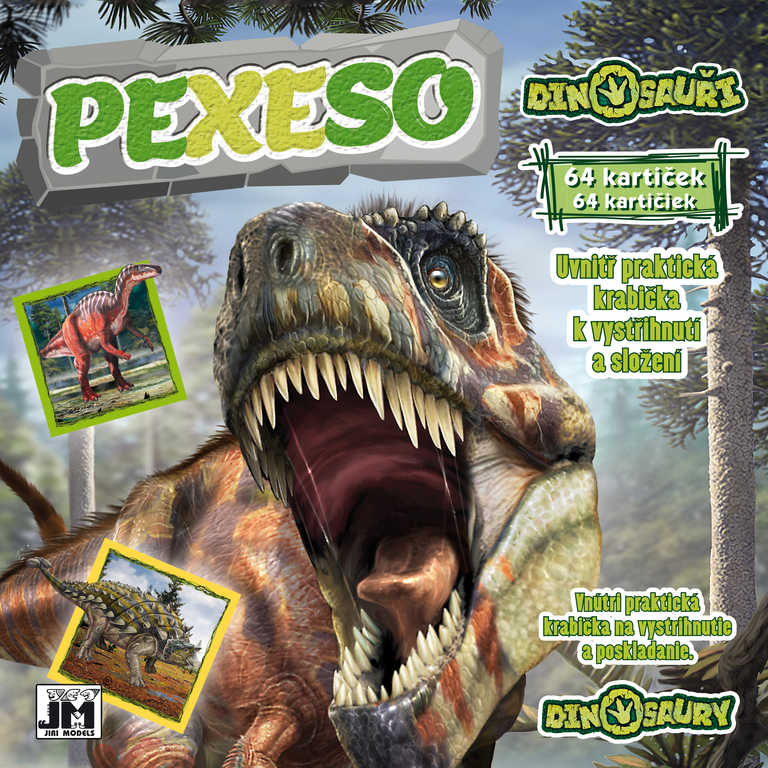 JIRI MODELS Pexeso v sešitu Dinosauři s krabičkou a omalovánkou
