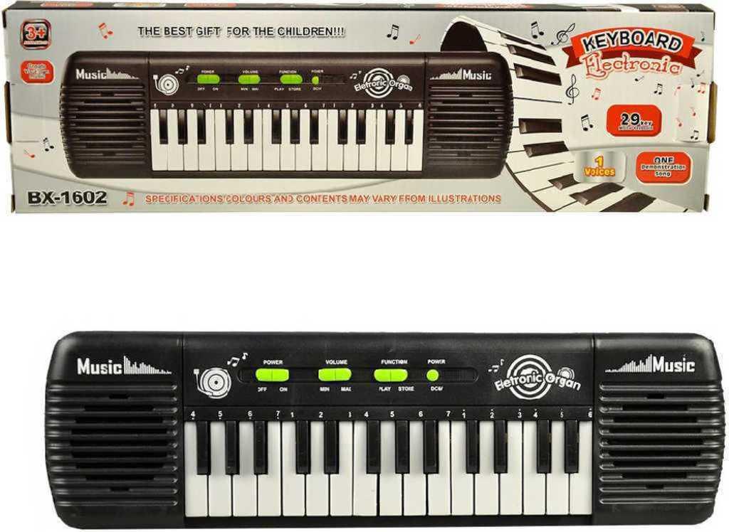 Piáno dětské elektronické 29 kláves na baterie keyboard v krabici plast