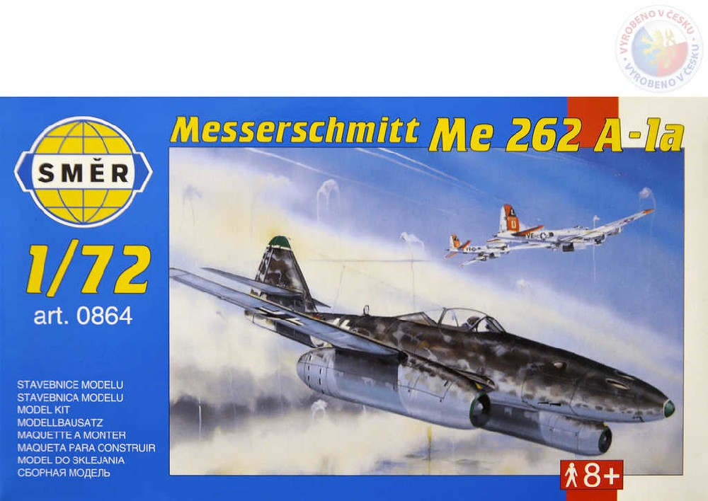 SMĚR Model letadlo Messerschmitt Me 262A 1:72 (stavebnice letadla)