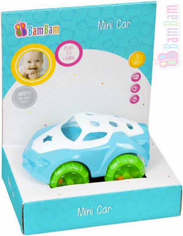 ET BAM BAM Baby autíčko 135 mini volný chod chrastítko pro miminko