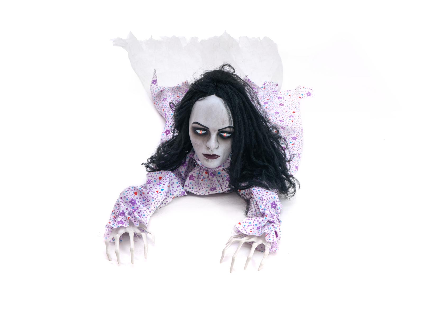 Halloween figurína plazící se dívky, 150cm