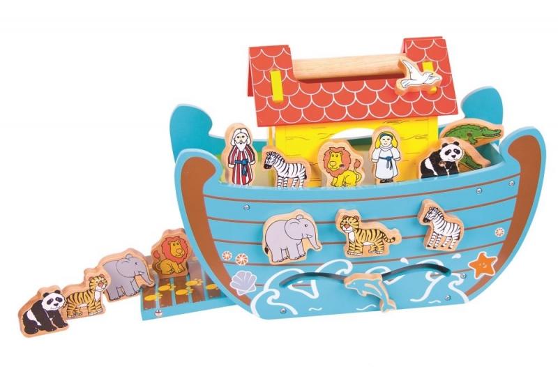Bigjigs Dřevěná Noemova archa