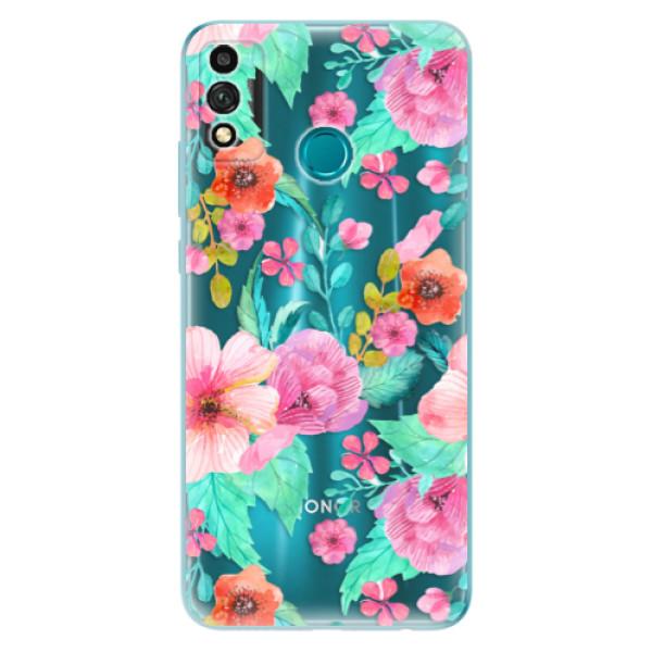 Odolné silikonové pouzdro iSaprio - Flower Pattern 01 - Honor 9X Lite