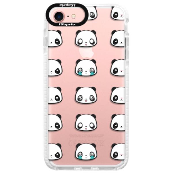 Silikonové pouzdro Bumper iSaprio - Panda pattern 01 - iPhone 7