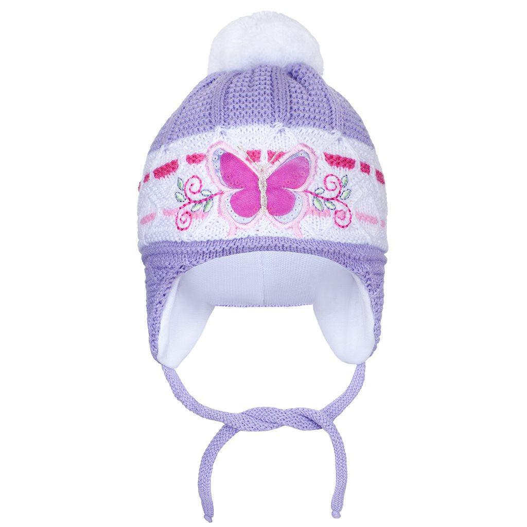 Zimní dětská čepička New Baby motýlek