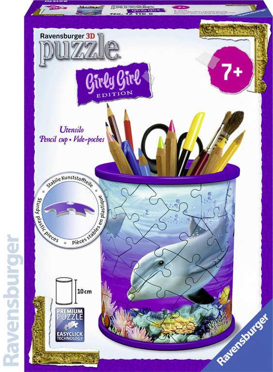 RAVENSBURGER Puzzle 3D skládačka stojan na tužky podmořský svět 54 dílků