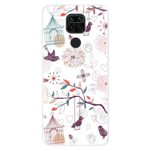 Odolné silikonové pouzdro iSaprio - Birds - Xiaomi Redmi Note 9