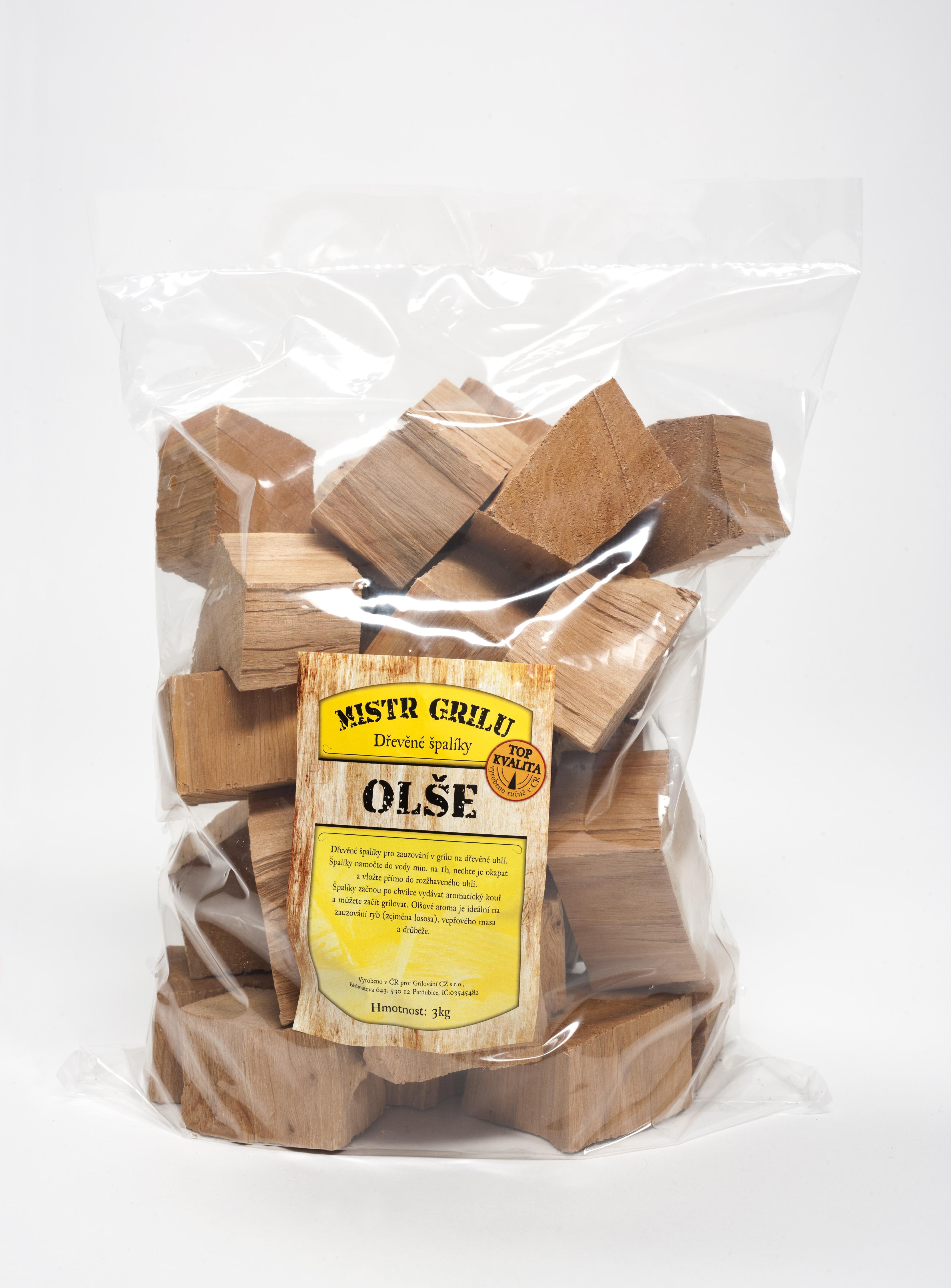 Dřevěné špalíky k uzení 3kg - OLŠE